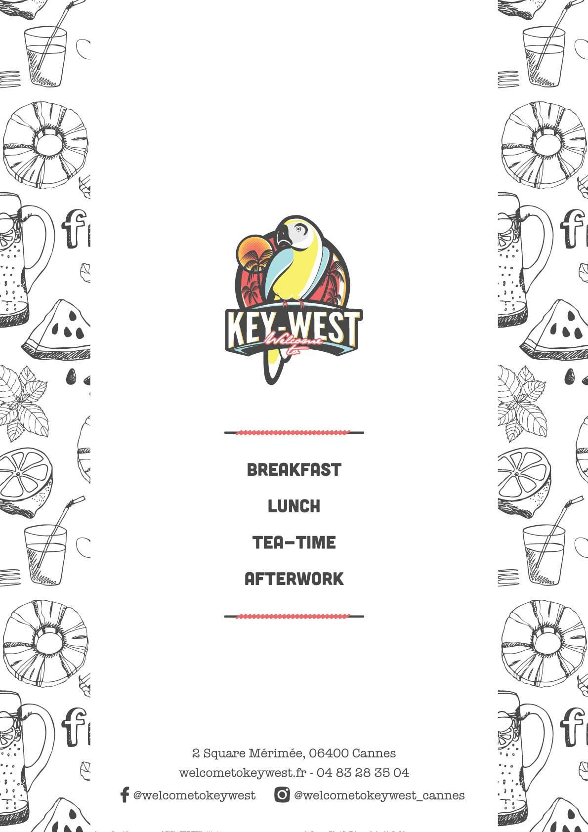 Couverture du menu